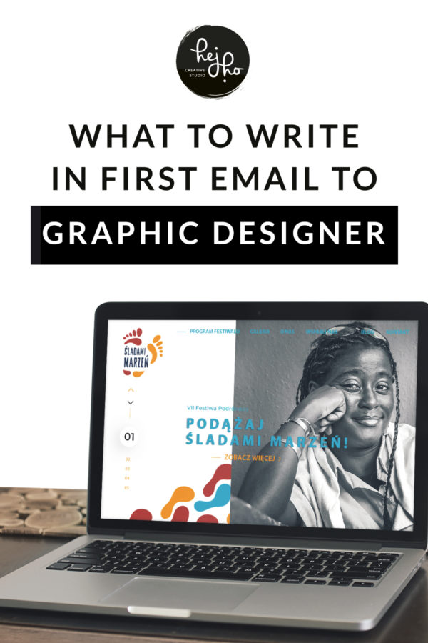 What to write in first email to graphic designer