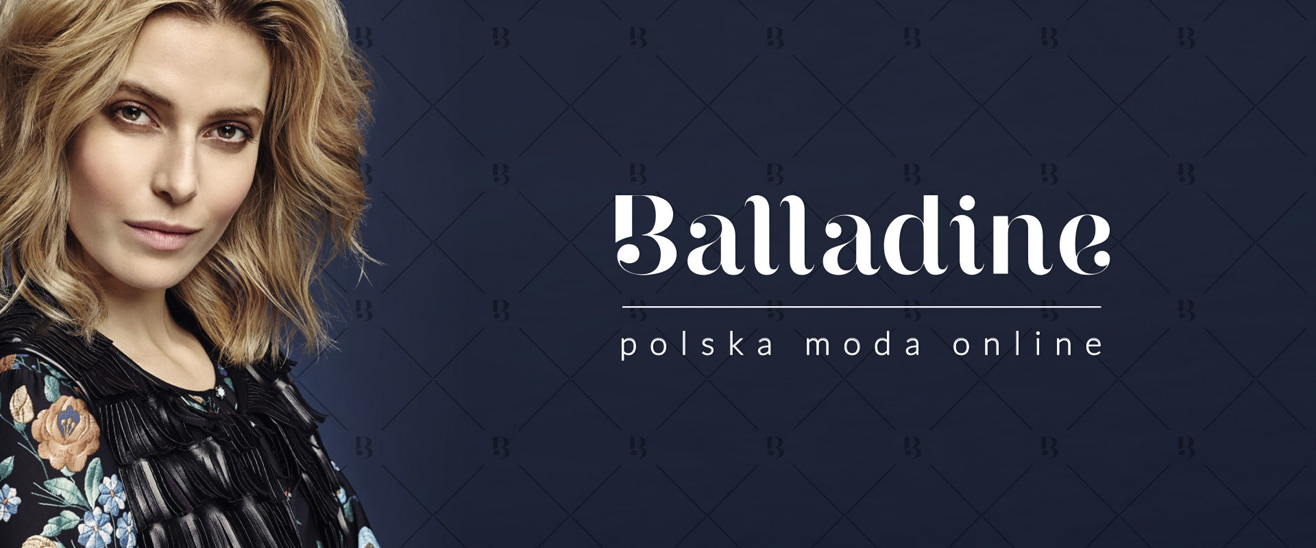 Showcase of logotype for multibrand store Balladine