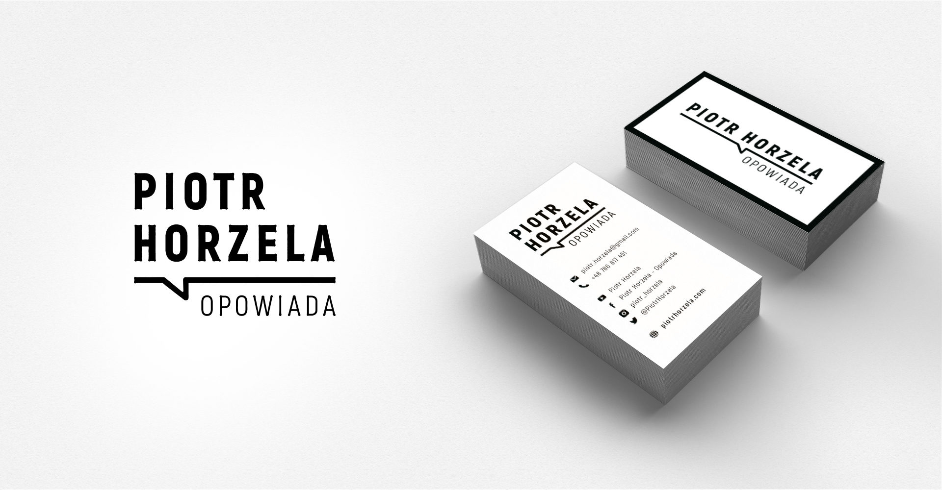 Graphic Chosen graphic identity for Piotr Horzelaidentity for Piotr Horzela