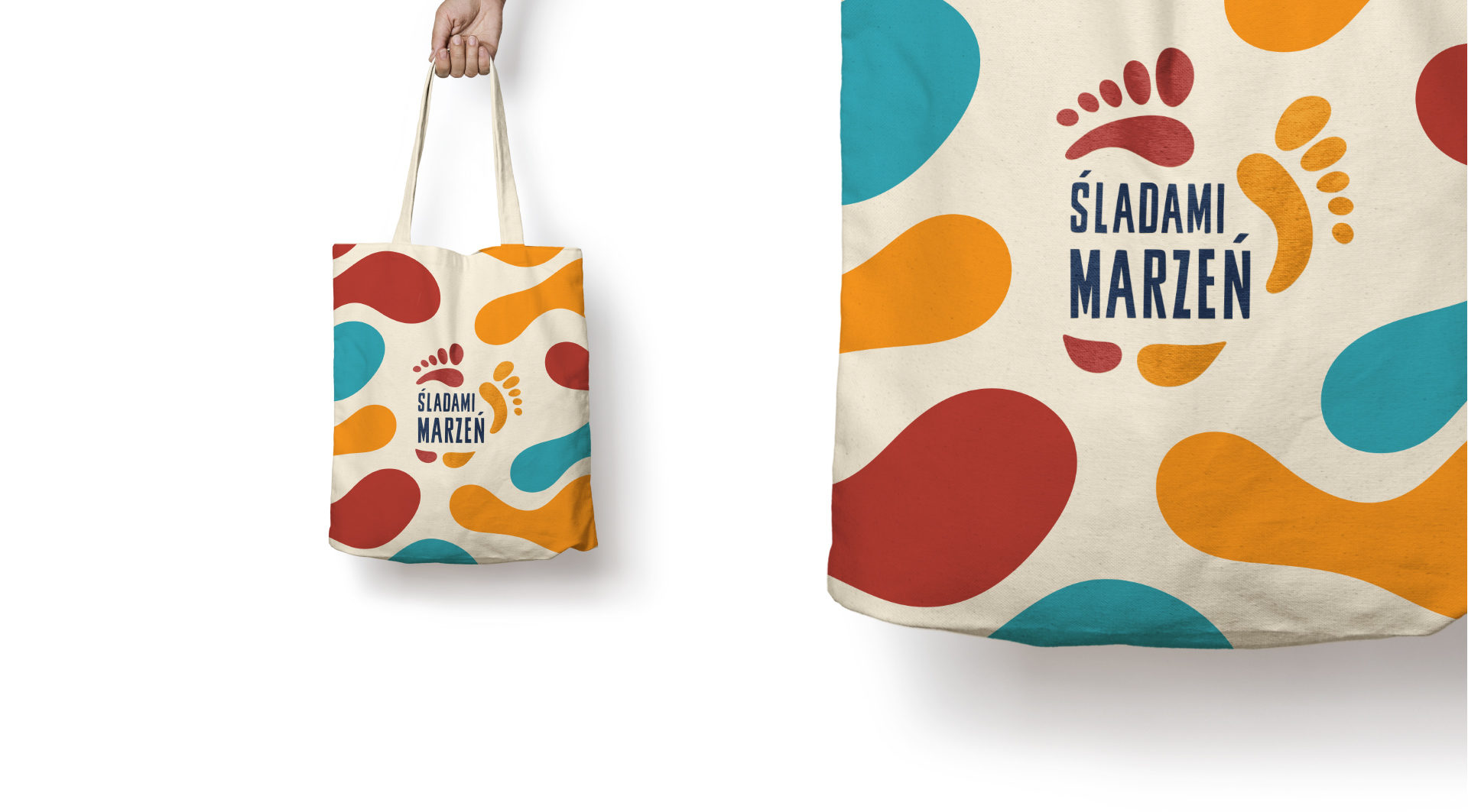 Material bag with logo of Festival Sladami Marzen